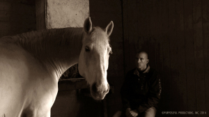 8.AARON AND FRED IN THE BARN